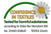 Enrico Wieland ist Oeko- Tex Standard 100 Zertifiziert